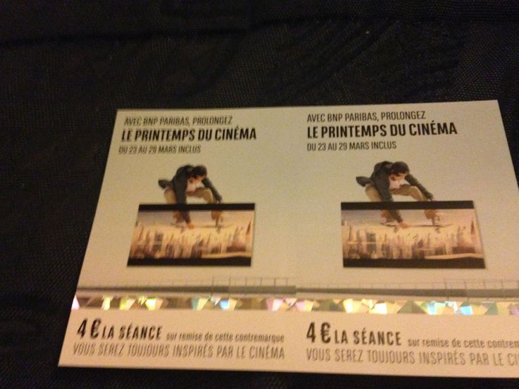 Places pour la prologation du Printemps du Cinéma 2016.