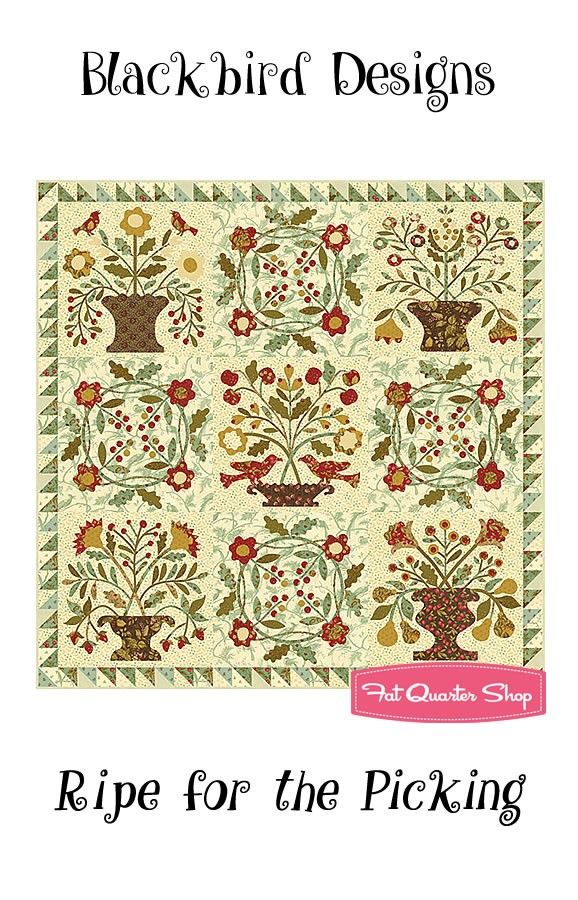 Ripe for the Picking Quilt Booklet Blackbird Designs #BBD-285 - Sweet Cherry Wine - Moda Fabrics | Fat Quarter Shop