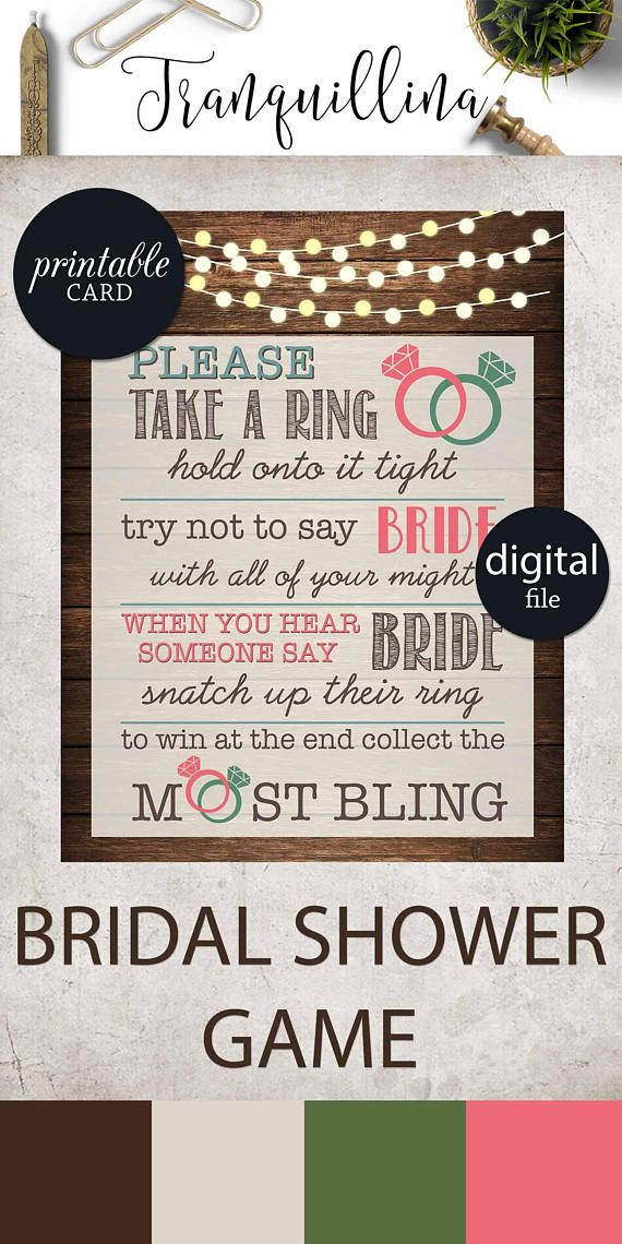 free printable bridal shower games how well do you know the bride%0A Don u    t say Bride Sign Rustic Bridal Shower Game Printable  Rustic wedding  shower ideas