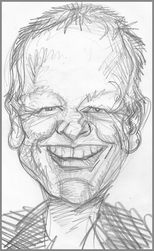 Caricature of Les Dennis @dennis_les for #TwitterCelebCarix