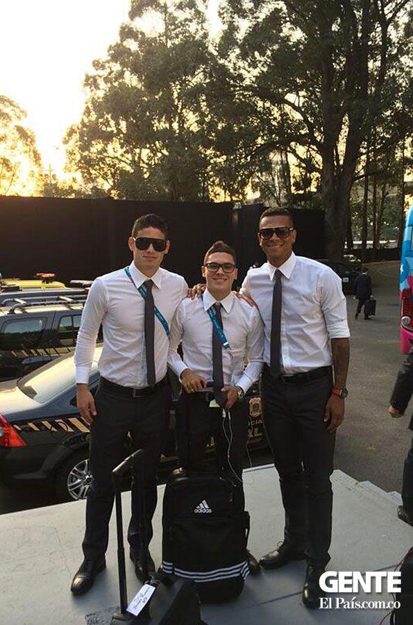 En la foto: James Rodríguez, Juan Fernando Quintero y Freddy Guarín junio 2014