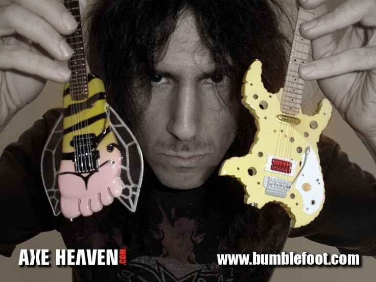 """Official Ron Thal miniature guitar replicas by AXE HEAVEN® are available exclusively through Ron Thal's Official """"Bumblefoot"""" website."""