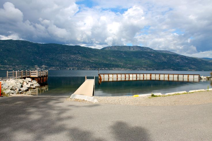 Safe Harbour and boat launch built by Burton Marine Pile Driving in Kelowna