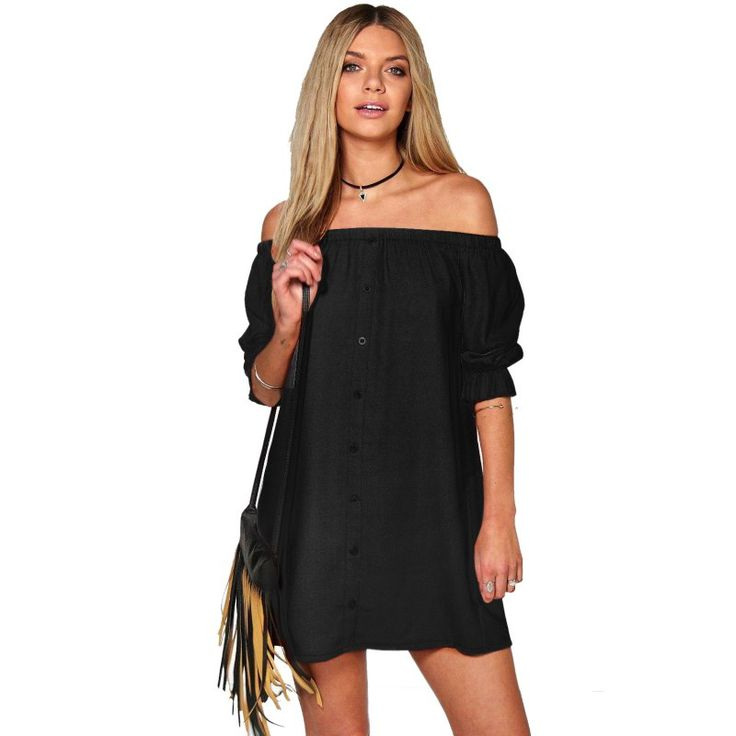 New Hot Sexy Women Strapless Off The Shoulder Dress Ladies Casual Club Loose Mini Dresses Girl Vestido