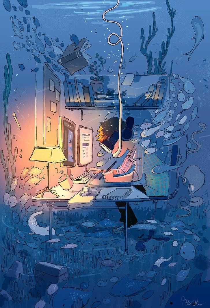 Do not disturb, Artist in the Zone! #pascalcampion