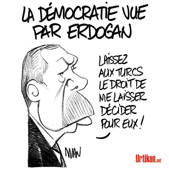 Erdogan : Crise entre l'Europe et la Turquie - Dessin du jour - Urtikan.net