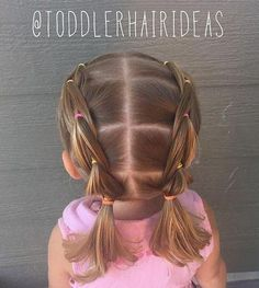 pigtail hairstyle for toddlers                                                                                                                                                     More