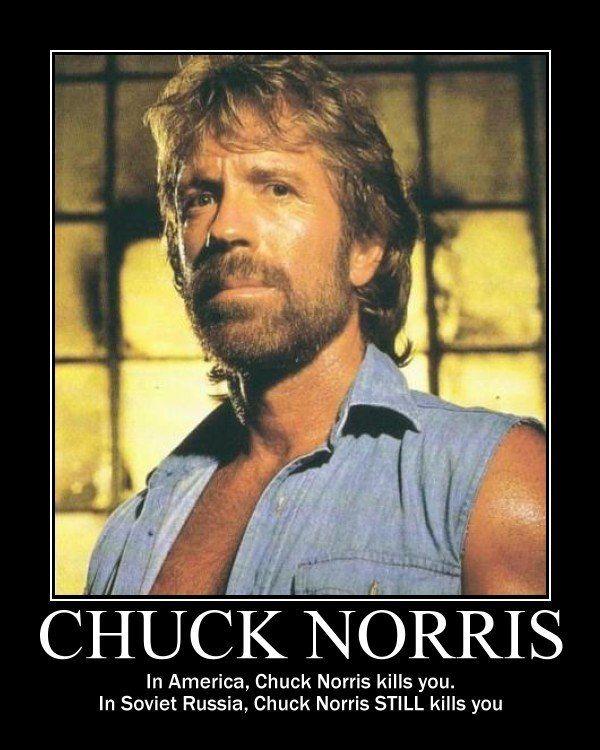 Funny Kickball Meme : In america chuck norris kills you soviet russia
