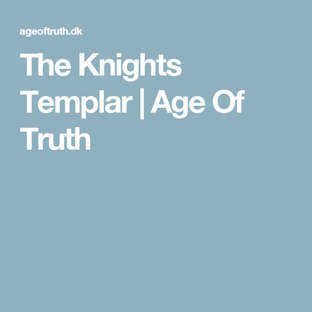 The Knights Templar | Age Of Truth