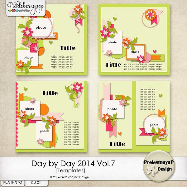 Day by Day 2014 Vol.7 Templates by PrelestnayaP Design