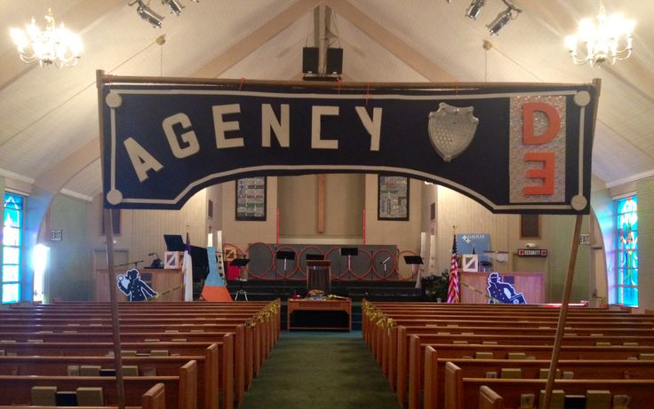 D3 Agency sign...reused amusement park entry sign with a little redesign from last VBS