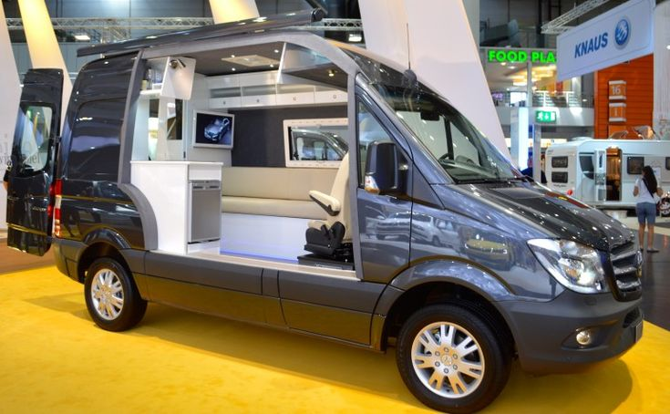 Mercedes-Benz shows the new Sprinter's camping potential with a cut-away concept