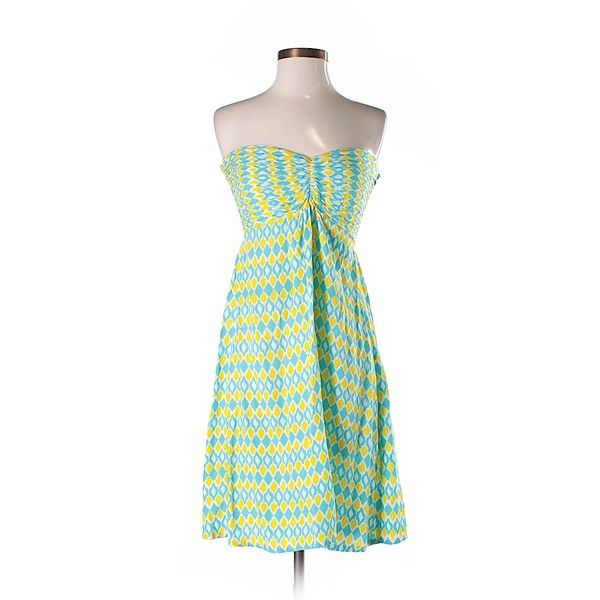 Pineapple Casual Dress ($13) ❤ liked on Polyvore featuring dresses, teal, teal blue dresses, pineapple print dress, blue dress, pineapple dress and teal green dress