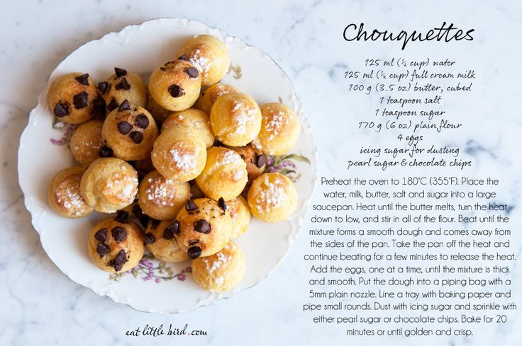 Chouquettes (an adaptation from Rachel Khoo's Little Paris Kitchen; total of 90ml less in milk+water)