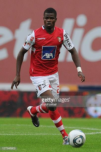 Elderson of SC Braga in action during the Liga Portugal match between SC Braga and CD Nacional at the Estadio Municipal de Braga on September 25 2011...