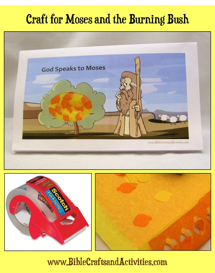 Moses And The Burning Bush Craft