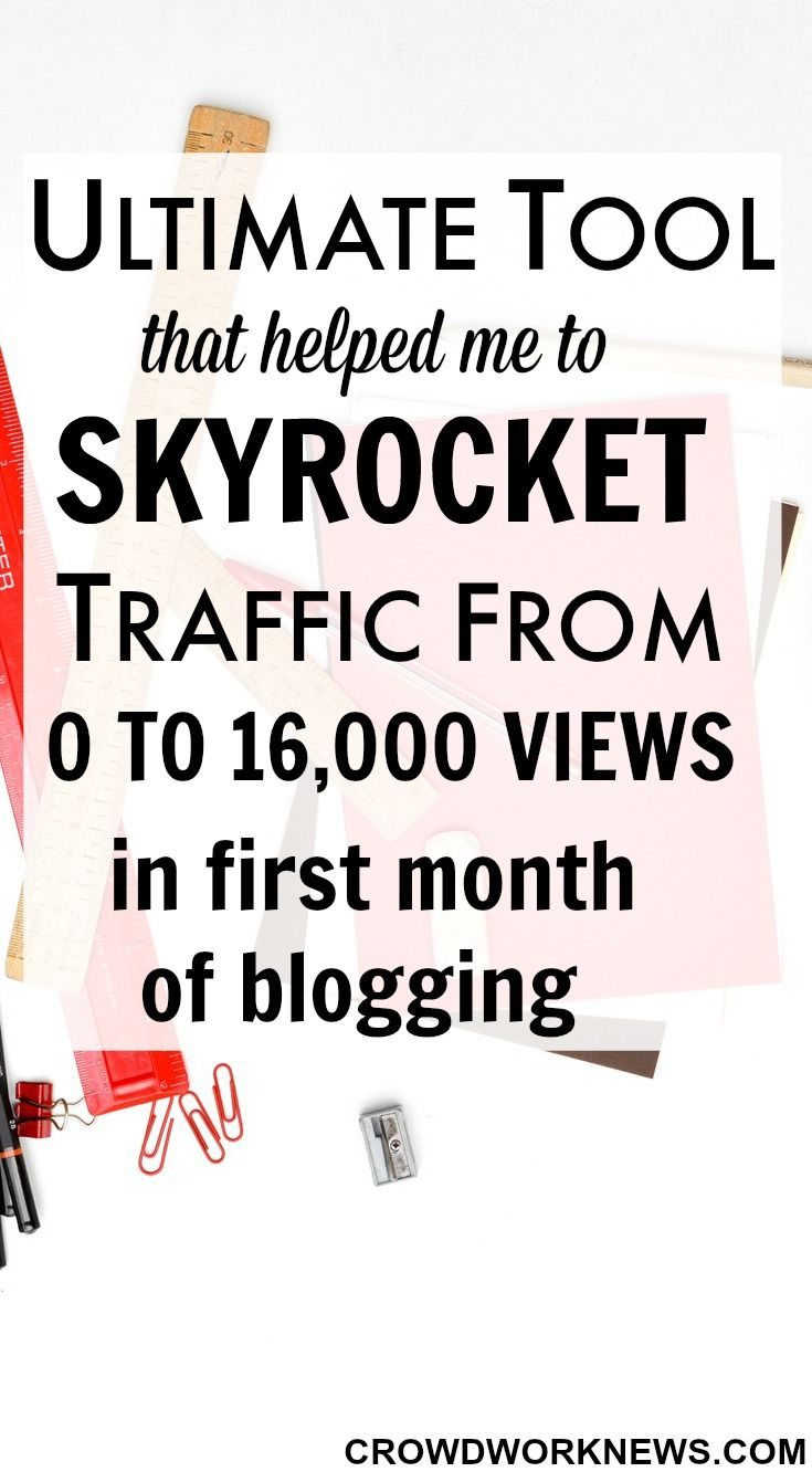 Struggling to bump up your blog traffic? I had 16,000 page views in my first of blogging. Click through to find out the amazing resource which made my page views surge.(aff).