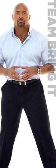 Dwayne The Rock Johnson Nothing like a great sexy dressed man.