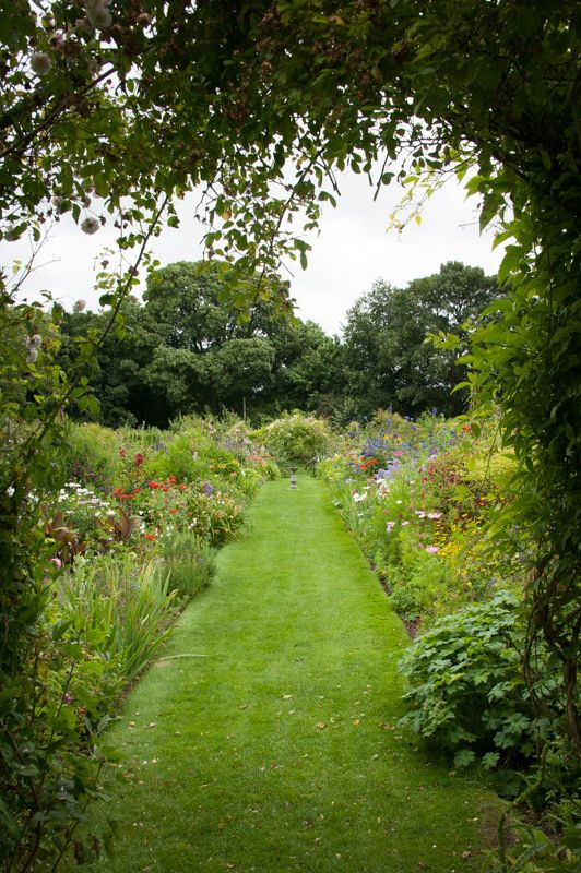 Upton Grey, mixed borders in the old kitchen garden.