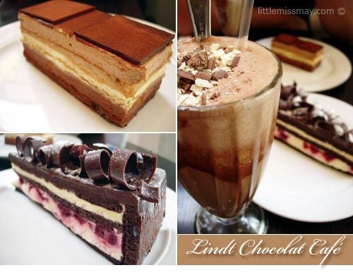 Lindt Chocolate Cafe in Darling Harbour, Sydney