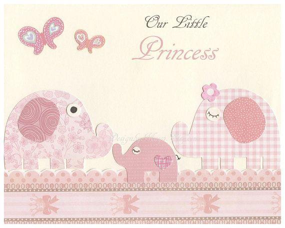 Baby Girl Nursery Wall Art Baby Girl Nursery Decor by DesignByMaya, $17.00