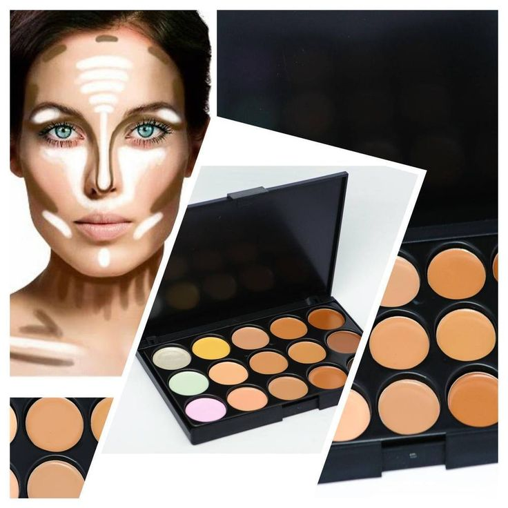 15 COLOURS CONCEAL AND BRIGHTEN KIT HIGHLIGHTER CONTOURING FOUNDATION PALETTE  | eBay