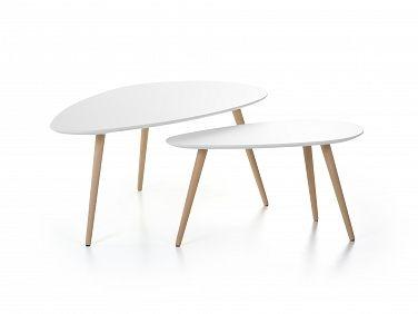 stolik - dwuczęściowy - FLY - biały