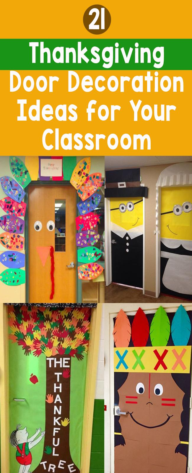 21 Thanksgiving Door Decoration Ideas for Your Classroom – Bored Teachers