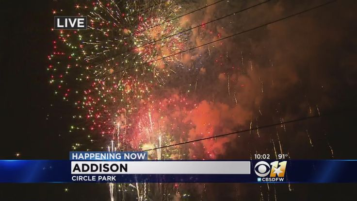 The annual Kaboom Town in Addison celebrates Fourth of July with a big fireworks show.