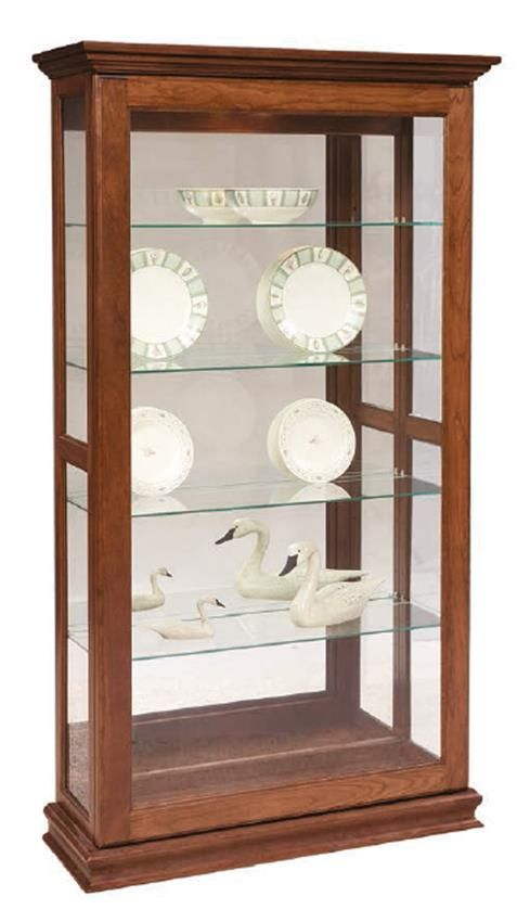 Amish Sliding Door Large Picture Frame Curio Cabinet
