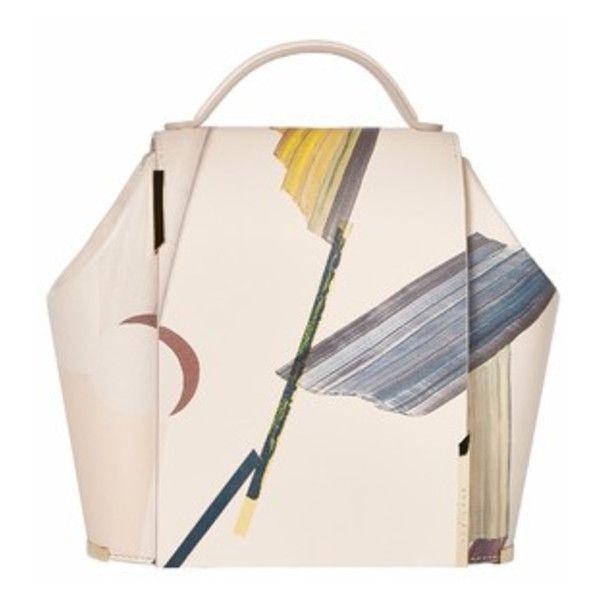 Onesixone Gaia Observatario Large Handbag (30.550.500 IDR) ❤ liked on Polyvore featuring bags, handbags, shoulder bags, beige, genuine leather shoulder bag, handbags shoulder bags, pink purse, leather purse and shoulder strap bag