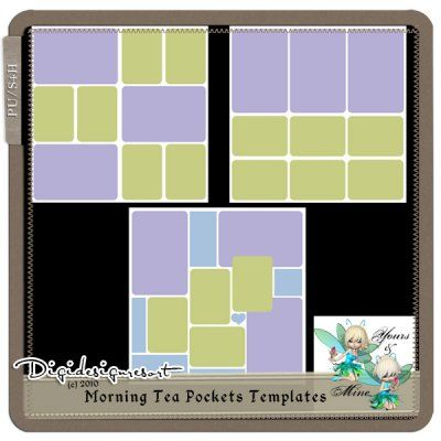 Morning Tea Pockets Templates (PU/S4H) Yours&Mine