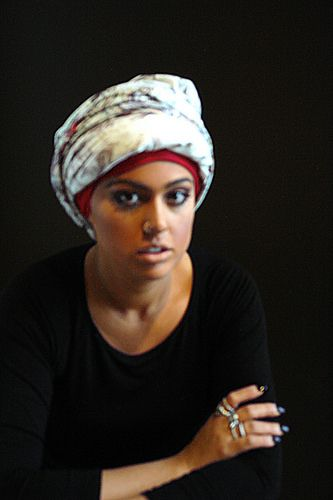 Wearing scarves as a turban | Flickr - Photo Sharing!