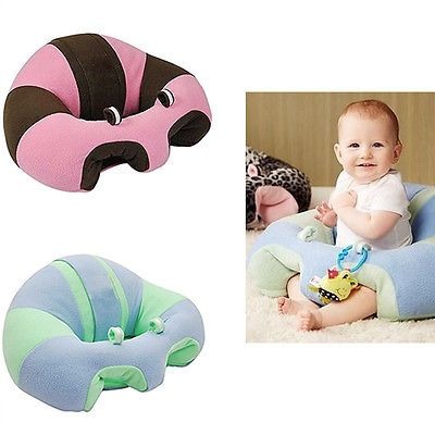 Hugaboo Baby Plush Snow Leopard Sitting Chair Toy Learning Chair Easy to Use