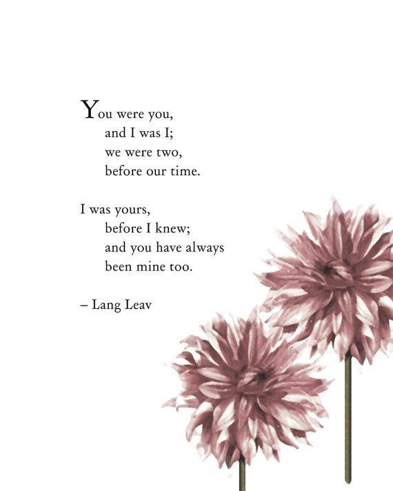 Poetry Art Lang Leav He and I Poetry Art por Riverwaystudios