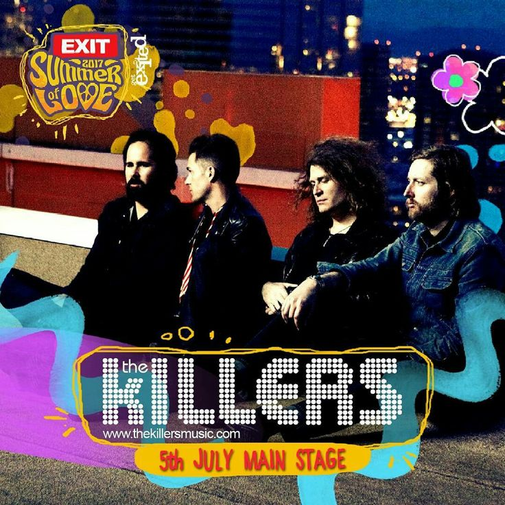 The Killer to headline Exit Festival on the 5th July 2017