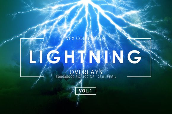 Lightning Effect Overlays Vol. 1 by ArtistMef on @creativemarket