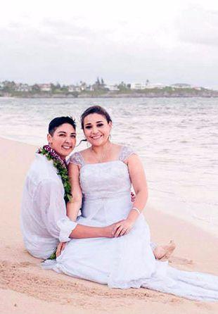 Traumhochzeit auf Hawaii: Beth Ditto heiratet ihre
