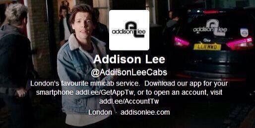 Directioner Updates @NipsAndDimps Addison Lee have Louis as their header!  (via @team_1direction)