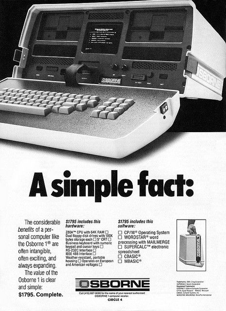 Osborne 1 advertisement from Personal Computing 2-82 | Flickr - Photo Sharing!