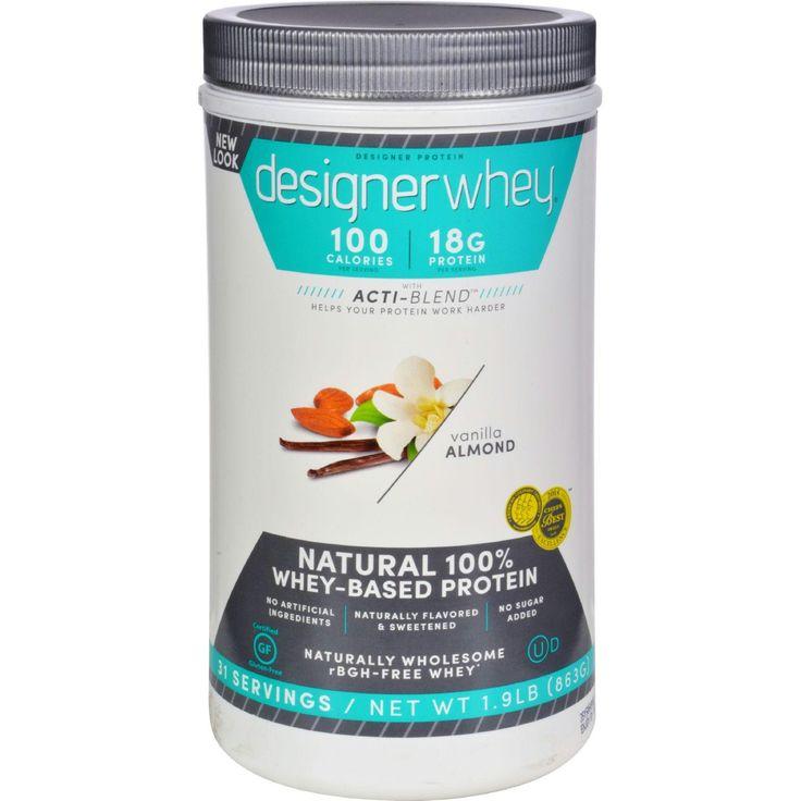 Designer Whey Protein Powder Vanilla Almond - 1.9 lbs