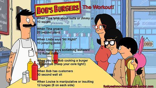 Bob's Burgers Workout