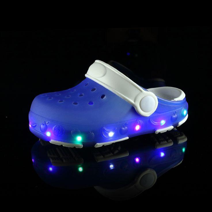 >> Click to Buy << 2017 New Children Led EVA Garden Shoes Kids Summer Beach Mules Clogs Sandal Mules Boy Girl With Light Goma Holes Plastic Slipper #Affiliate