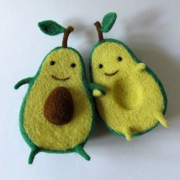 We can't believe how super cute these felted avocados are by Hannah Dovhan!
