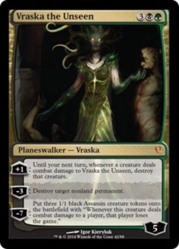 Vraska-the-Unseen-FOIL-x4-Magic-the-Gathering-4x-Duel-Decks-Jace-vs-Vraska-NM
