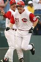 Sean Casey~my favorite Red's player of all time!!!!  Love the Mayor!