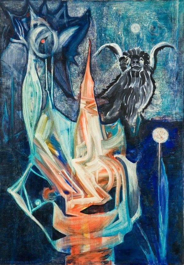Jerzy Tchórzewski - Composition III - 1957, oil paint, canvas,95 x 135 cm