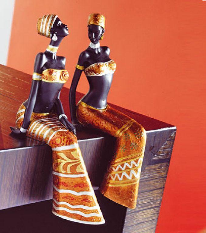 figuras mujeres africanas colorido