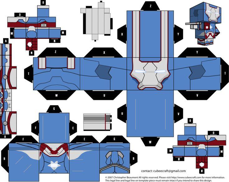 Irom Patriot Cubeecraft by JagaMen.deviantart.com on @deviantART