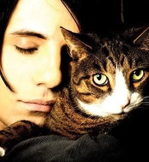 Criss Angel + his cat Hammy.
